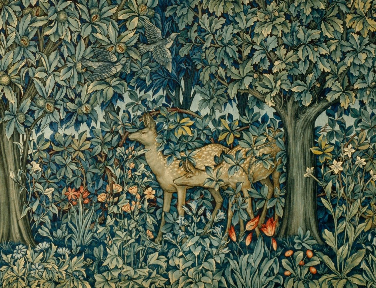 Guidedbythewind | Vintage Shower Curtains, William Morris For Current Blended Fabric Pheasant And Doe European Tapestries Wall Hangings (View 4 of 20)