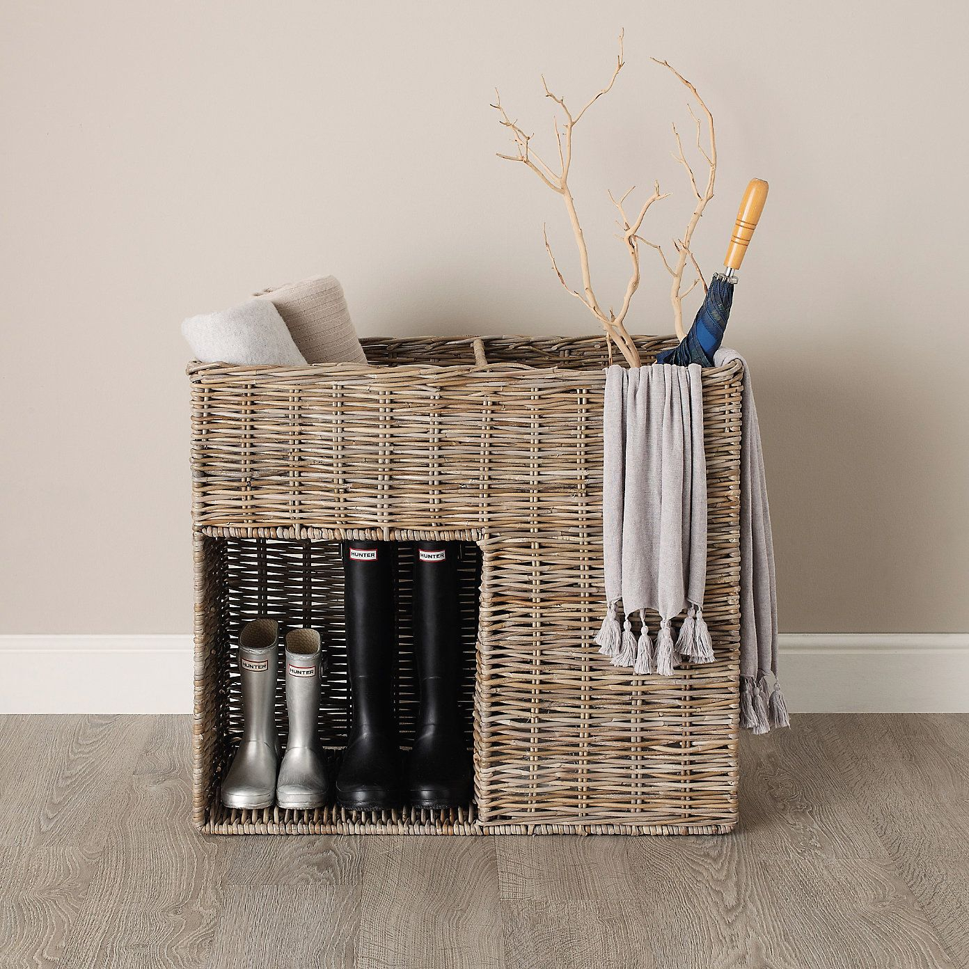 Hallway Basket | The White Company | Entryway Basket, House With 2017 Blended Fabric Hohl Wall Hangings With Rod (View 17 of 20)