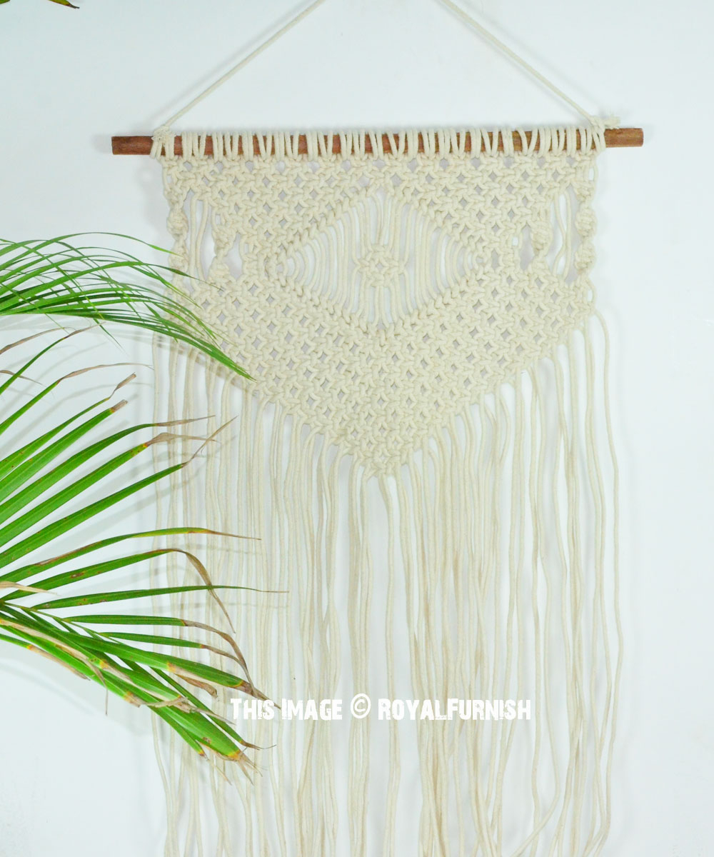 Hand Woven Macrame Tapestry Wall Hanging 40 Inch Long For Current Hand Woven Wall Hangings (View 11 of 20)