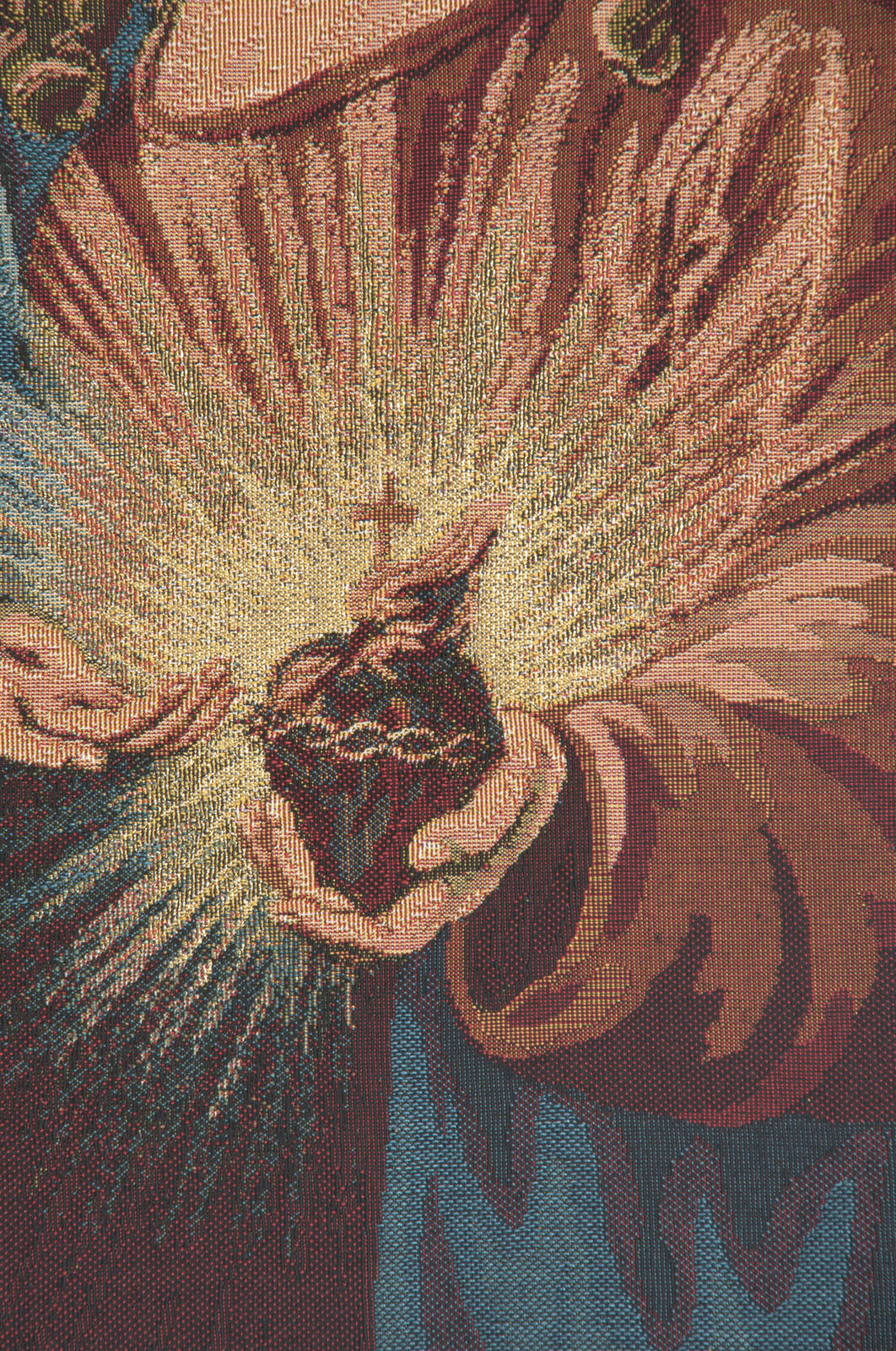 Heart Of Jesus Italian Wall Art Tapestry Wall Hanging For Most Current Blended Fabric Saint Joseph European Tapestries (View 18 of 20)