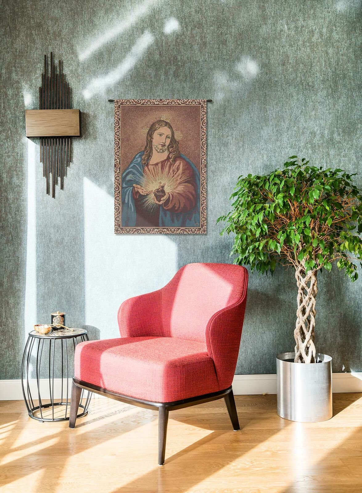 Heart Of Jesus Italian Wall Art Tapestry Wall Hanging For Most Up To Date Blended Fabric Living Life Bell Pull Wall Hangings (View 5 of 20)