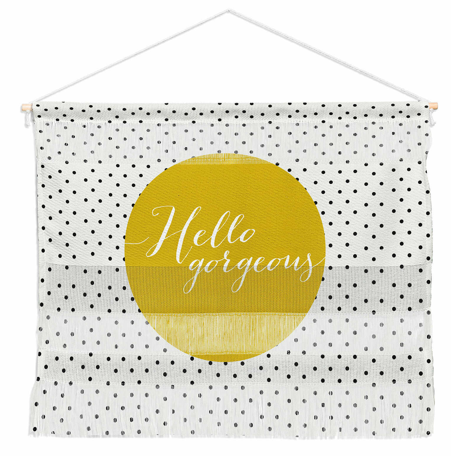 Hello Gorgeous Wall Hanging Throughout Current Blended Fabric Gallanteries European Wall Hangings (View 9 of 20)