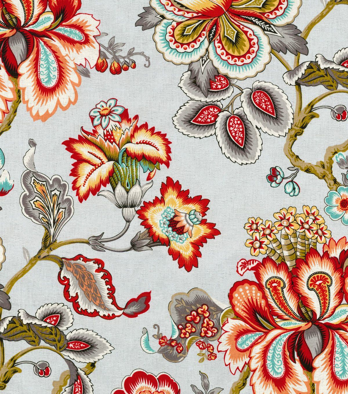 """Hgtv Home Upholstery Fabric 54"""" – Bespoke Blossoms Mineral With Regard To Most Current Blended Fabric Hidden Garden Chinoiserie Wall Hangings With Rod (View 18 of 20)"""