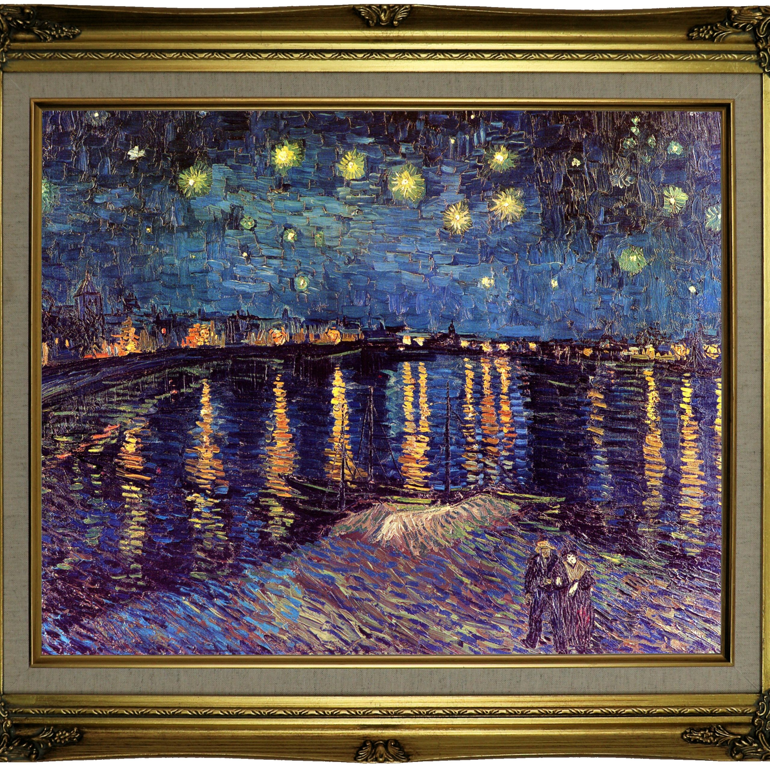 Home & Garden Van Gogh The Starry Night Canvas Print Home Pertaining To Most Popular Blended Fabric Van Gogh Starry Night Over The Rhone Wall Hangings (View 8 of 20)