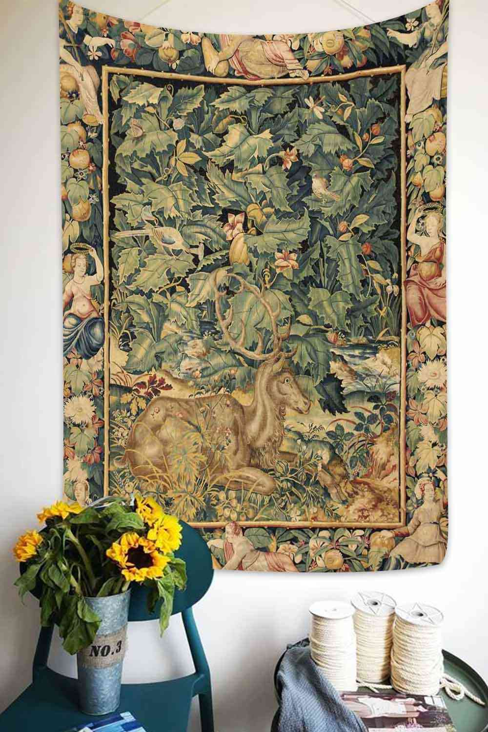 Hot Sale Worldwide Famous Art Fabric Decor Picture,gobelin In 2018 Blended Fabric Pheasant And Doe European Tapestries Wall Hangings (View 7 of 20)