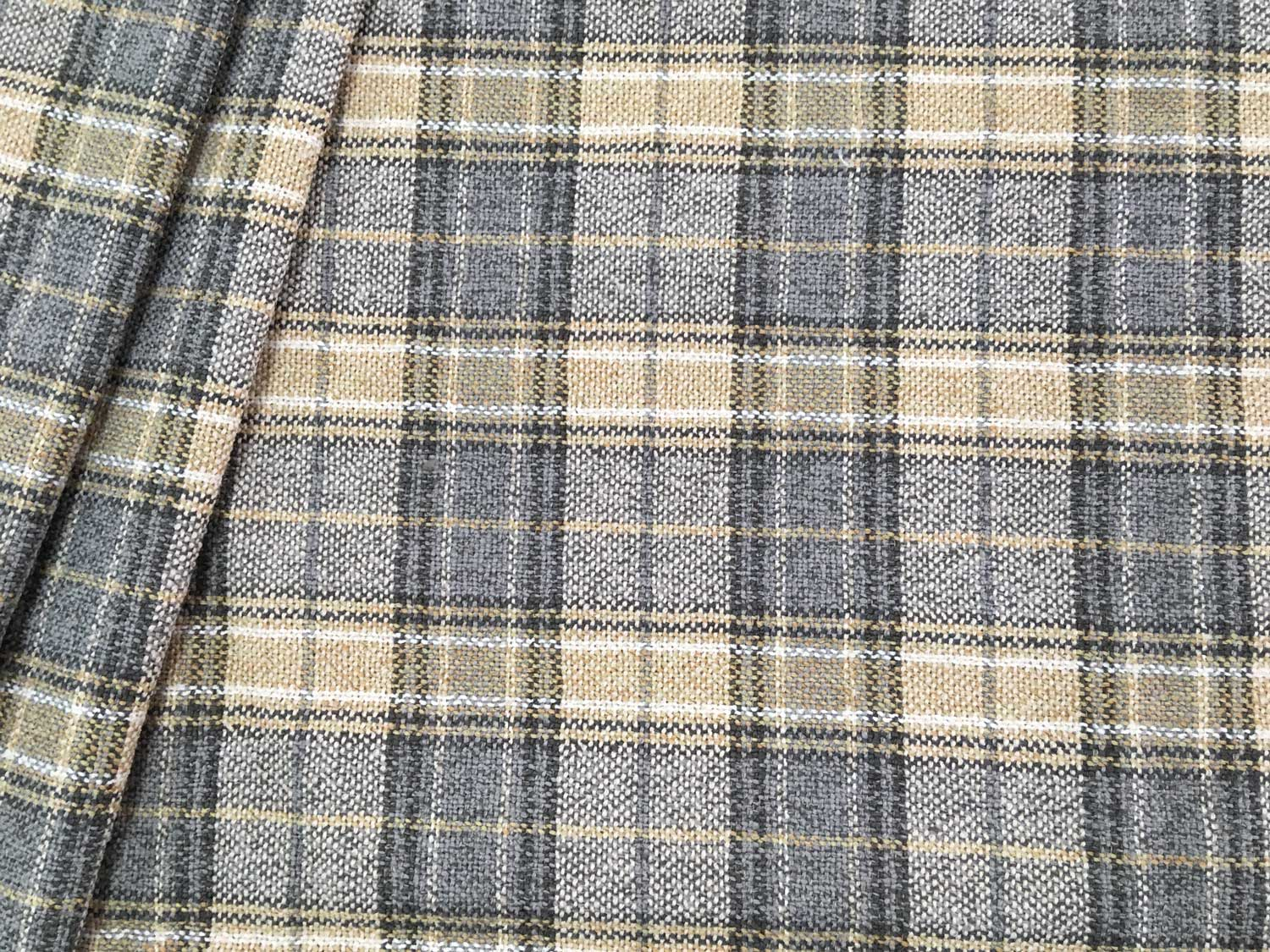 Hutton Chateau Plaid Upholstery Fabric – Ships Separately With Regard To Current Blended Fabric Fringed Design Woven With Rod (View 16 of 20)