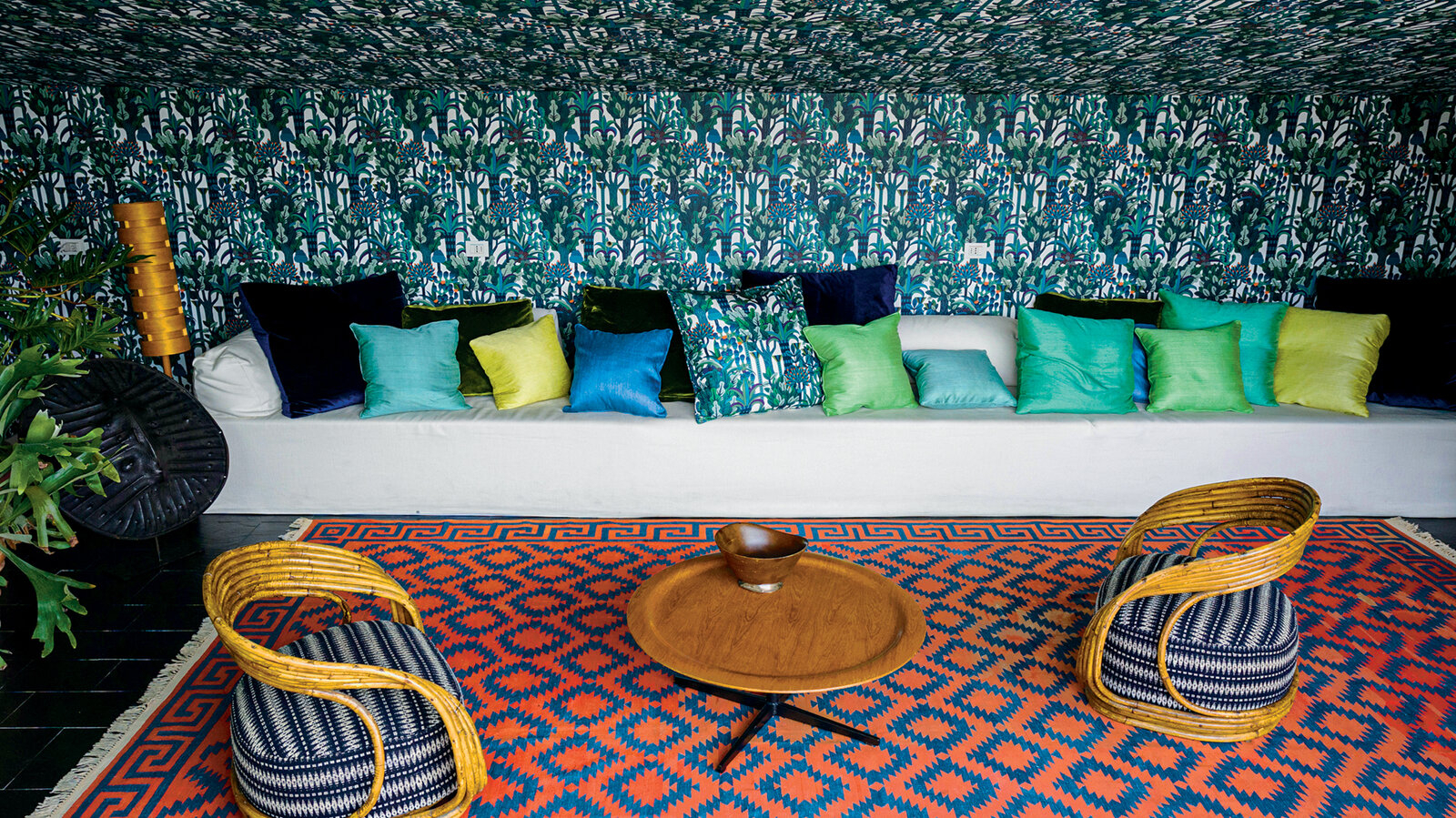 In Italy, A Fabric Designer's Wildly Colorful Home – The New Regarding Newest Blended Fabric Lago Di Como Ii Wall Hangings (View 15 of 20)