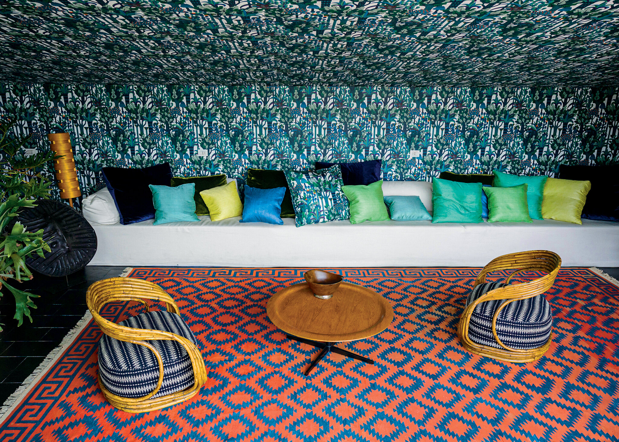 In Italy, A Fabric Designer's Wildly Colorful Home – The New With Regard To Most Recent Blended Fabric Italian Wall Hangings (View 16 of 20)