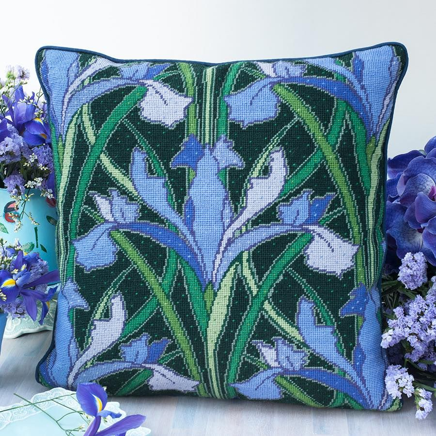 Iris Lovers Will Go Mad For This Beautiful Design From With Latest Blended Fabric Irises Tapestries (View 8 of 20)