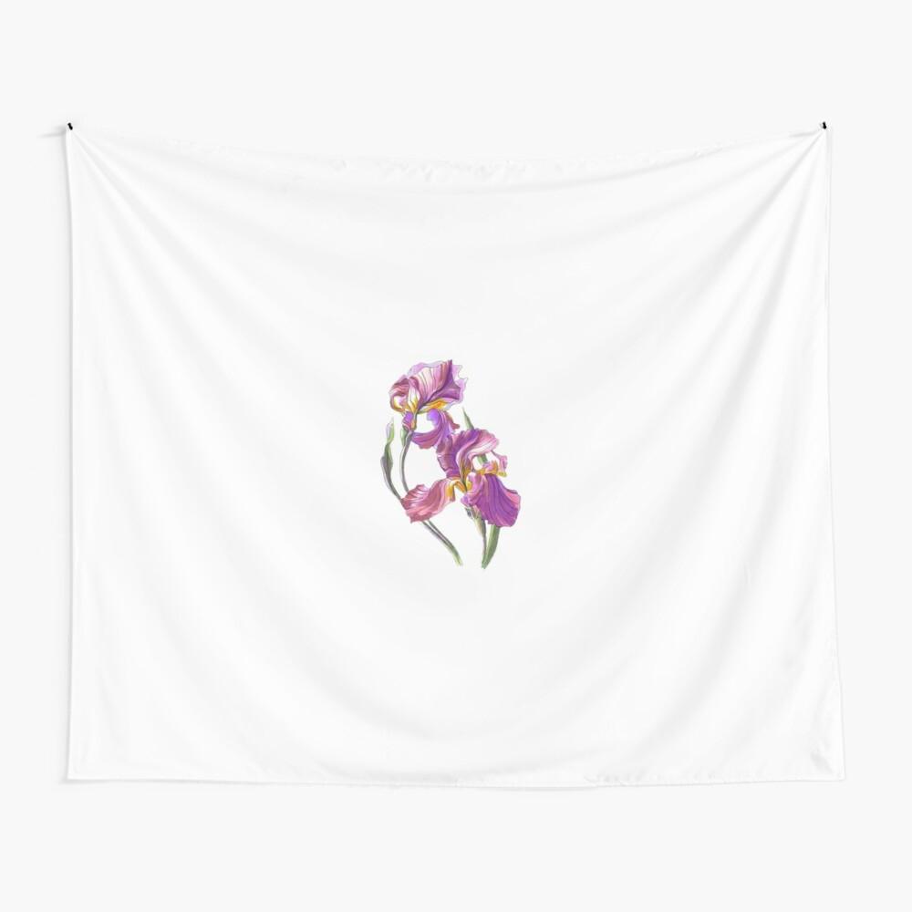 "Irises 1"" Baby One Piecekkartist | Redbubble Regarding Latest Blended Fabric Irises Tapestries (View 17 of 20)"