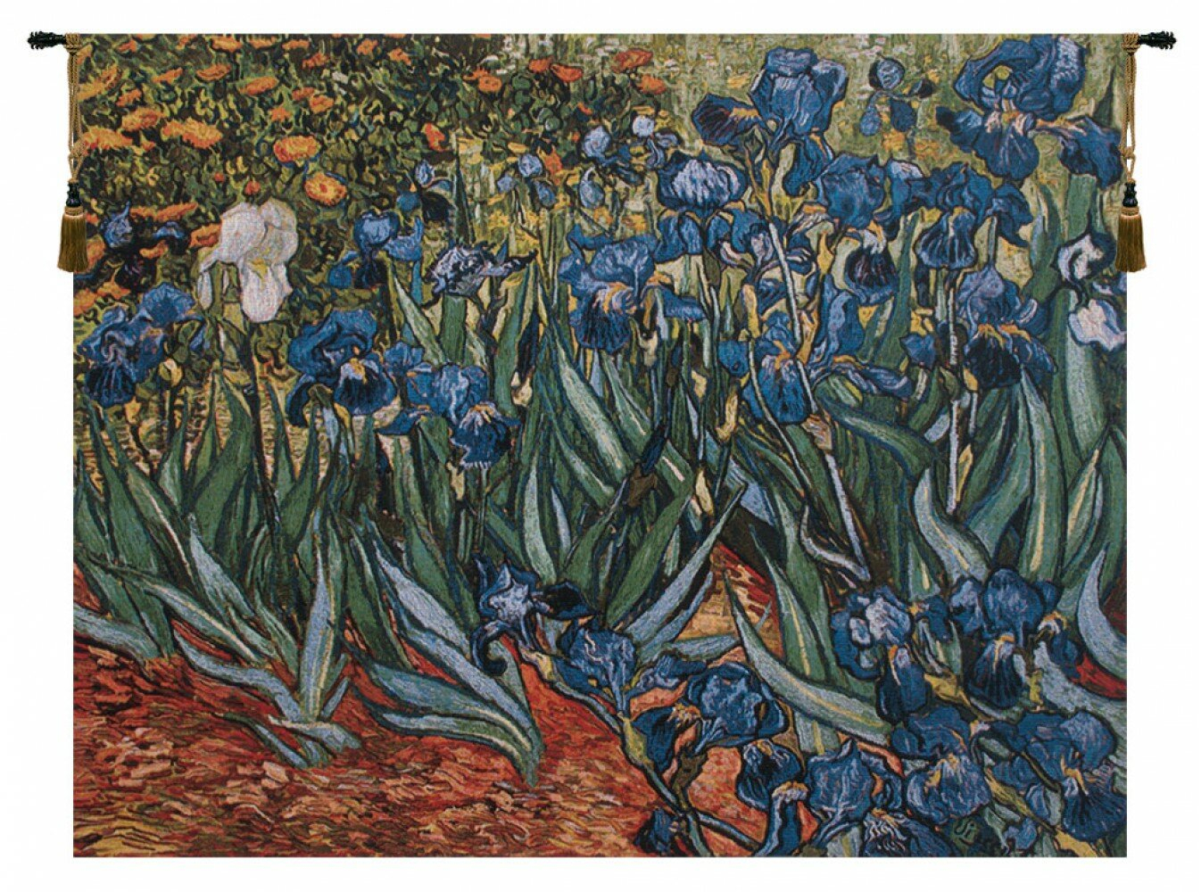 Irises In Gardenvan Gogh Tapestry Pertaining To Most Popular Blended Fabric Irises Tapestries (View 4 of 20)