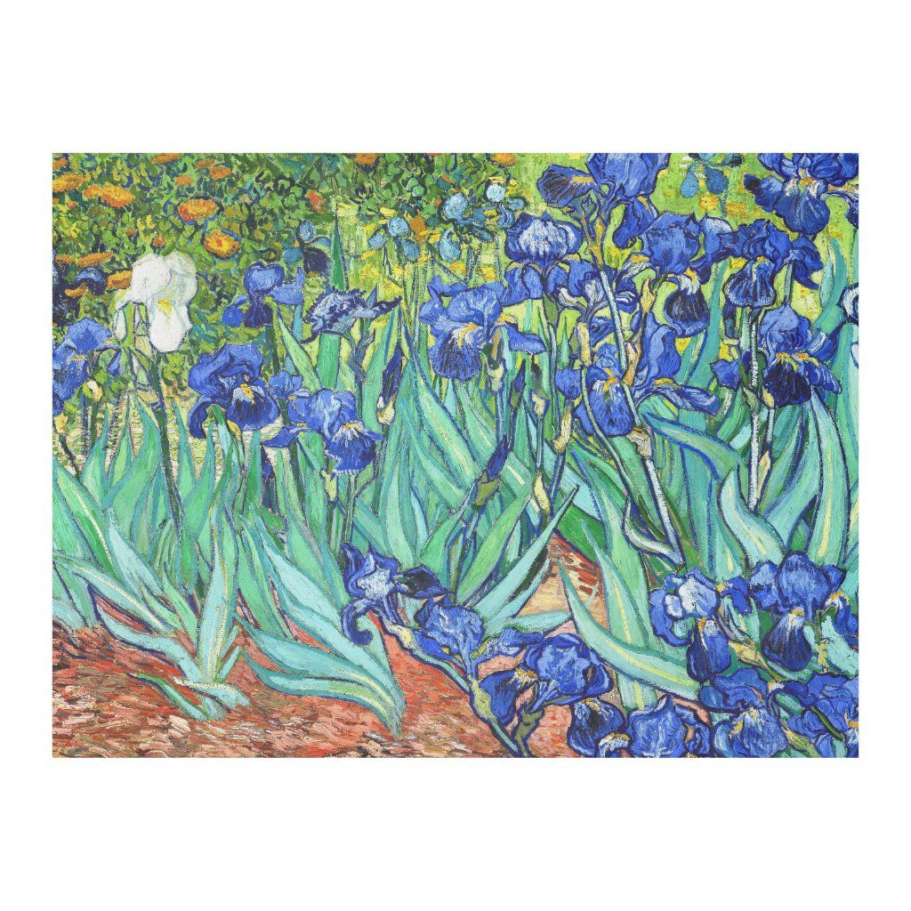 Irisesvincent Van Gogh Fleece Blanket | Zazzle In Inside Most Recently Released Blended Fabric Irises Tapestries (View 5 of 20)