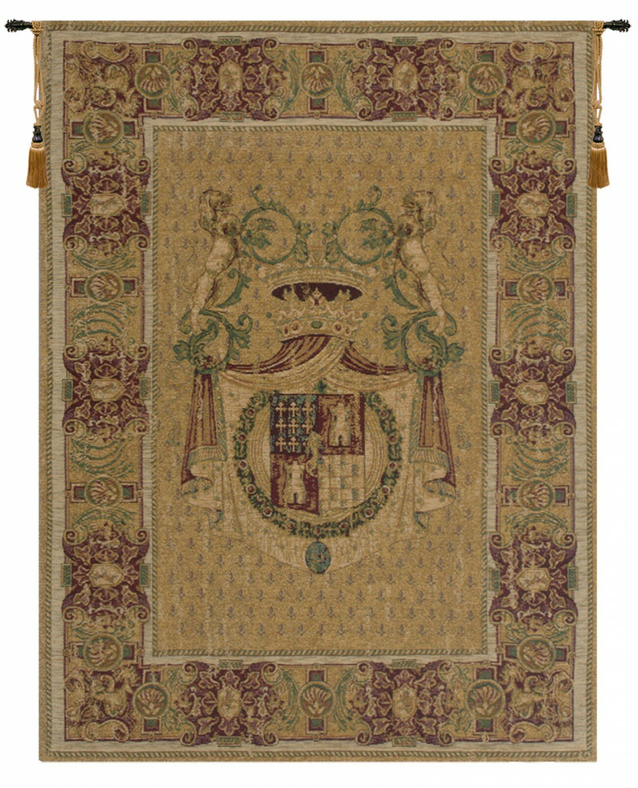 Italian Wall Hanging With 2017 Blended Fabric Havenwood Chinoiserie Tapestries Rod Included (View 8 of 20)