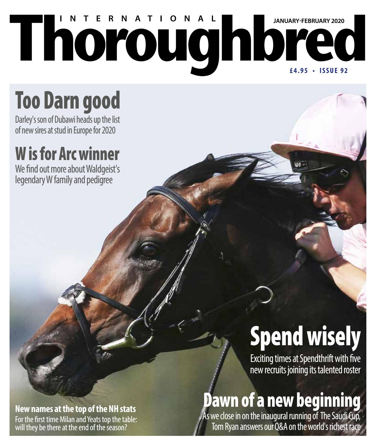 Itb January 2020international Thoroughbred – Issuu With Most Popular Blended Fabric European Five English Horses Tapestries (View 14 of 20)