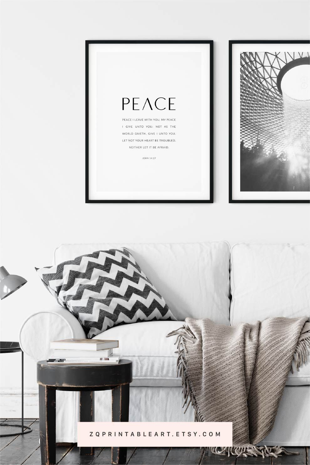John 14:27 Bible Verse Artwork Christian Poster, Scripture With Regard To Newest Peace I Leave With You Wall Hangings (View 14 of 20)