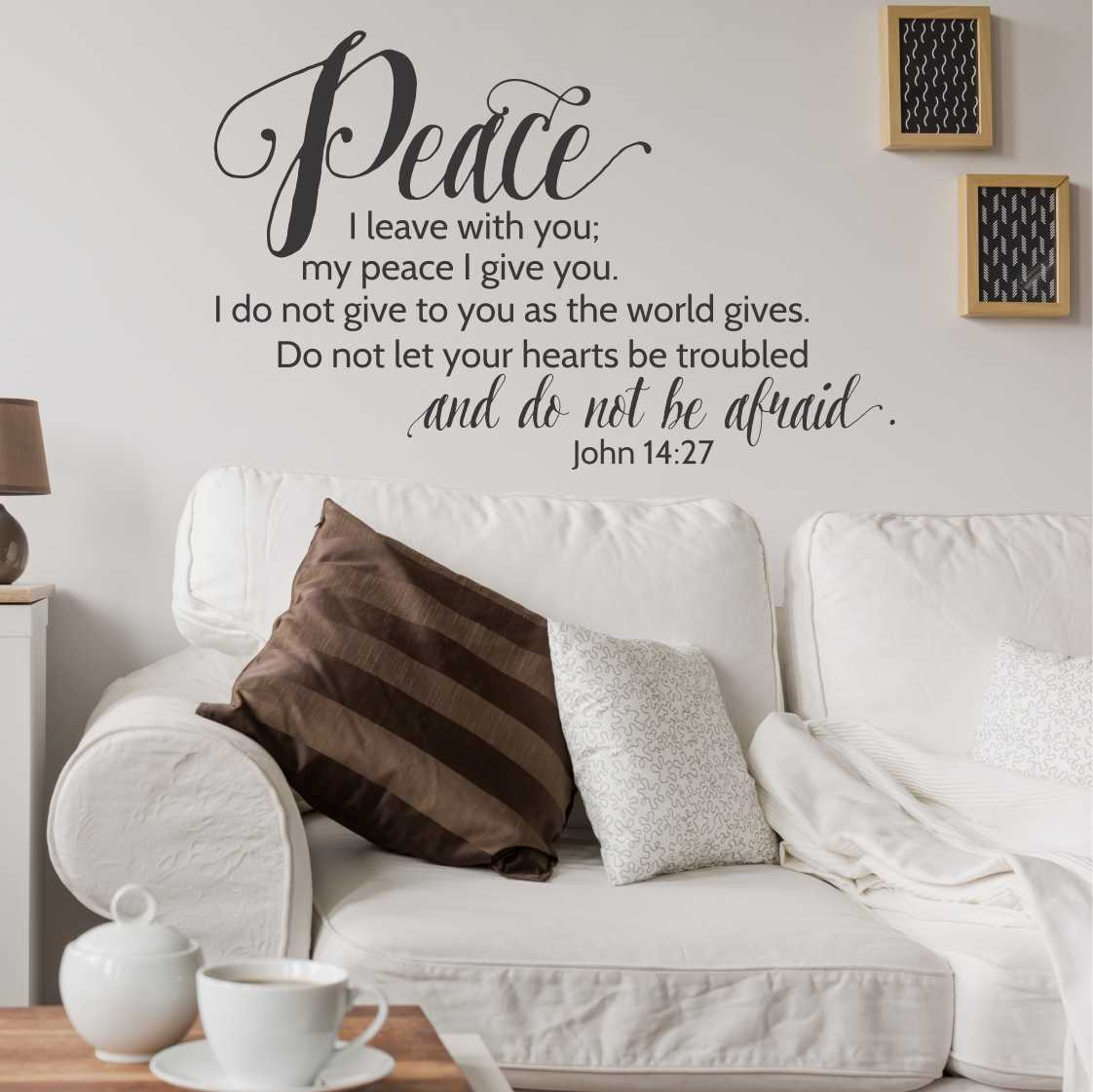 Featured Photo of Peace I Leave with You Wall Hangings