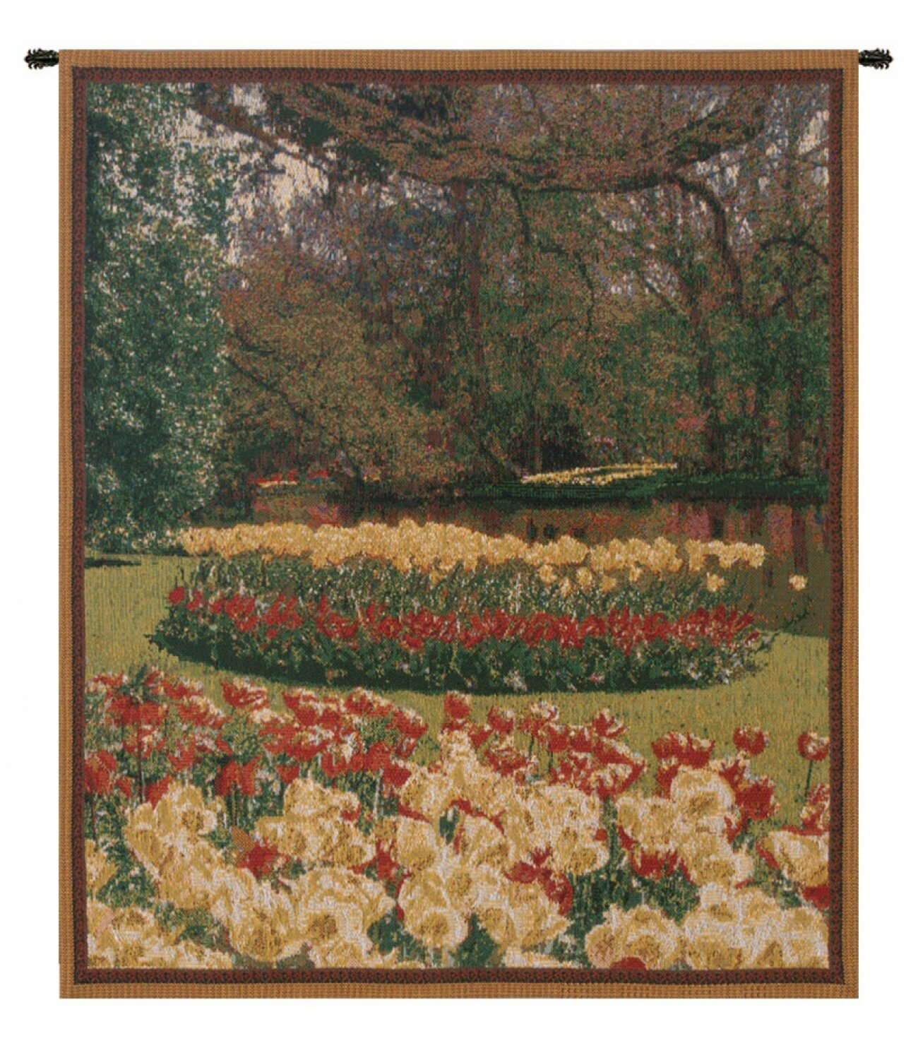 Keukenhof Ii, Mini Wall Hanging Within Best And Newest Blended Fabric Bellagio Scalinata Wall Hangings (View 7 of 20)