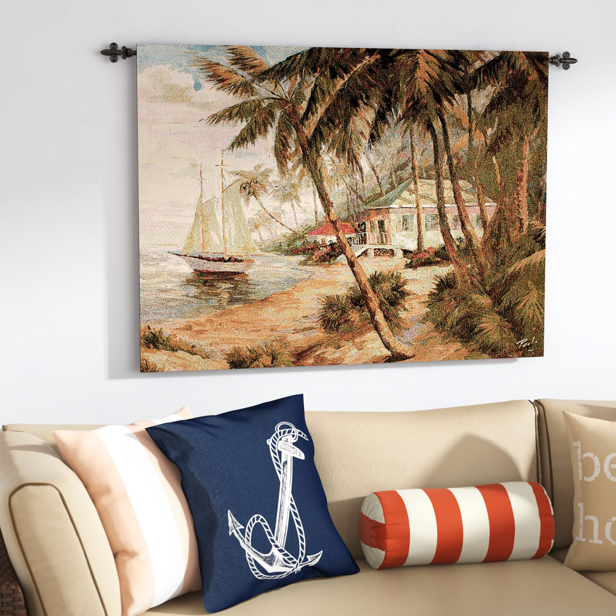 Key West Hideaway Tapestry For Best And Newest Blended Fabric Autumn Tranquility Verse Wall Hangings (View 7 of 20)