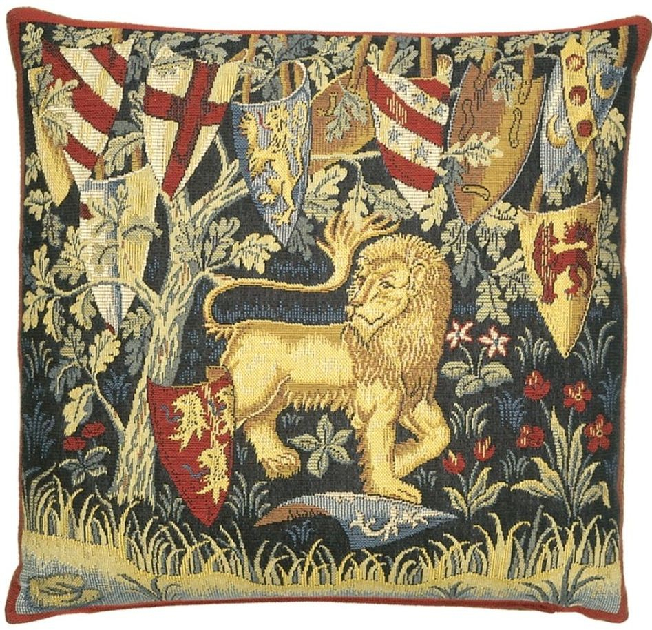King Arthur Lion Pillow Cover In Current Lion I European Tapestries (View 12 of 20)