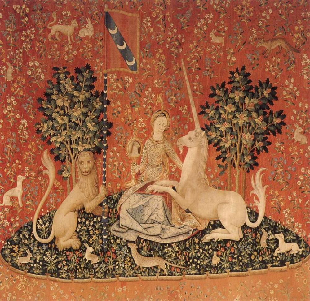 La Dame À La Licorne, La Vue, 1484 – 1500, Paris (cartons Within Most Recent Dame A La Licorne I Tapestries (View 18 of 20)