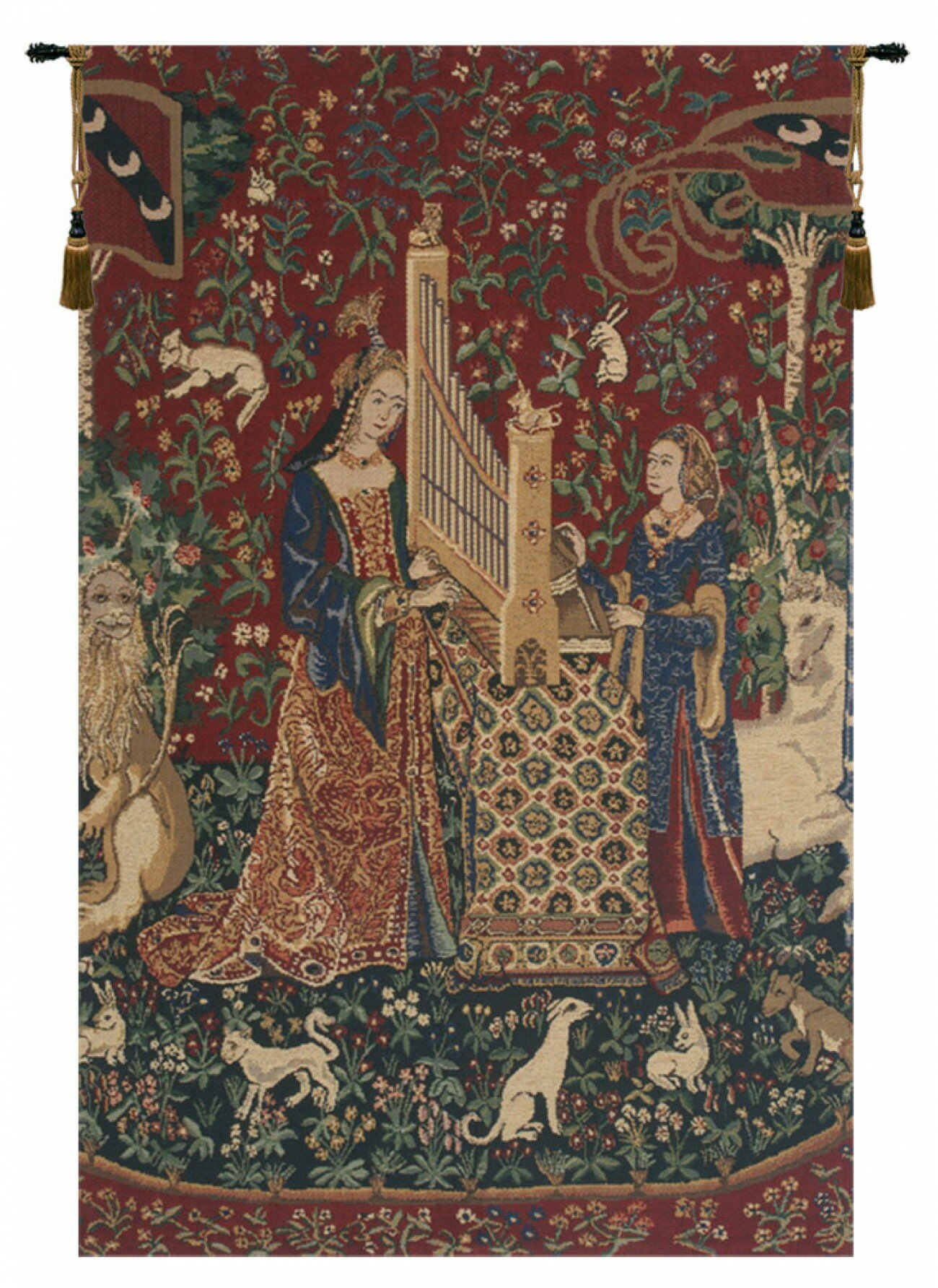 Lady And The Organ Iii Wall Hanging In Latest Blended Fabric Mucha Autumn European Wall Hangings (View 4 of 20)