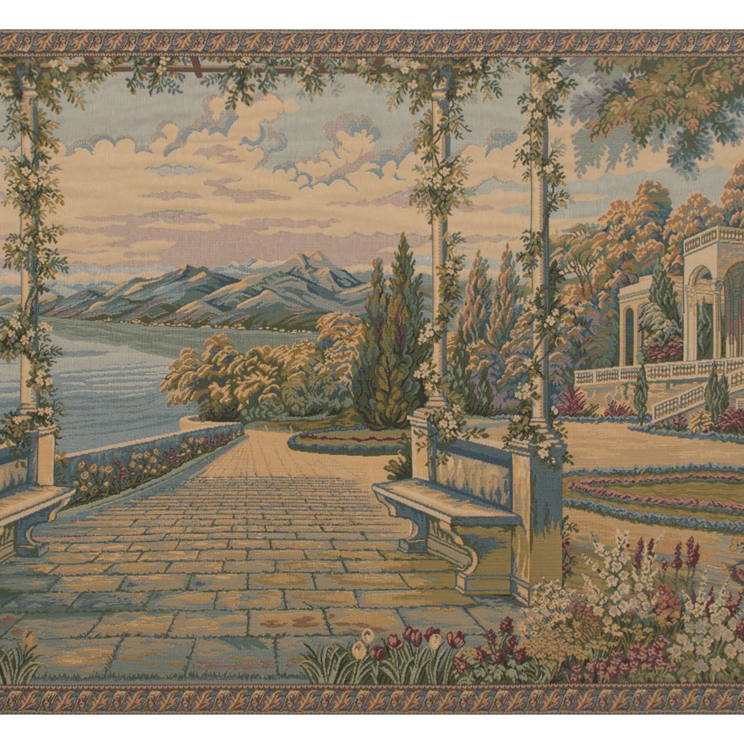 Lago Di Como Ii Wall Hanging Inside Best And Newest Blended Fabric Pastel Tree Of Life Wall Hangings (View 11 of 20)