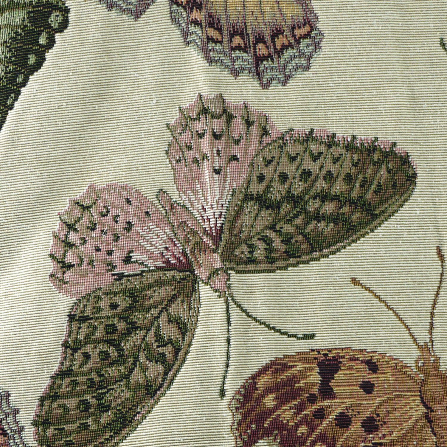 Large Butterflies Tapestry Upholstery Fabric Brown Green With Most Popular Blended Fabric Italian Wall Hangings (View 11 of 20)