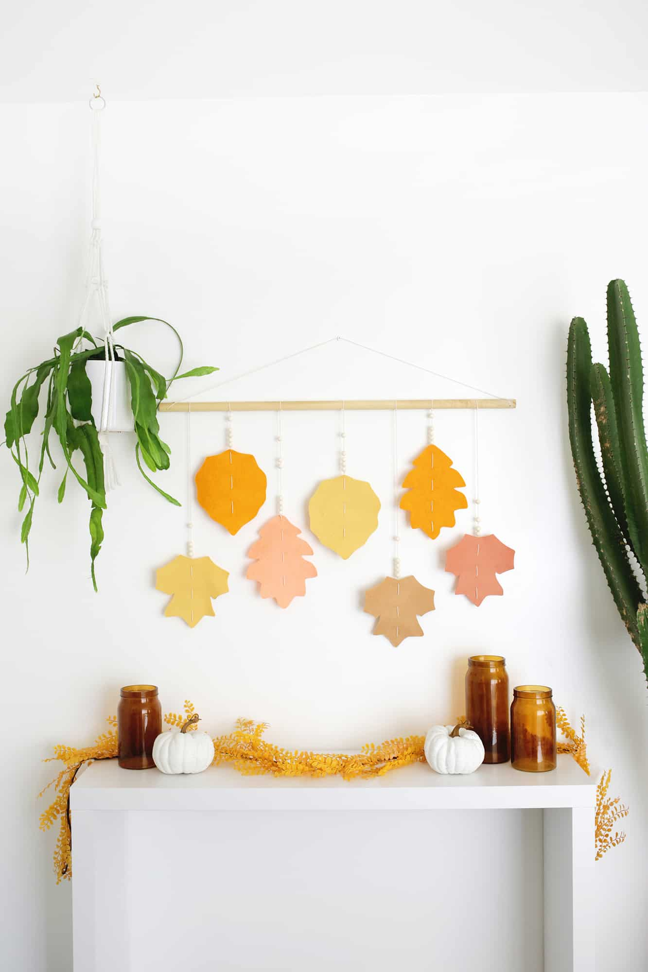 Large Scale Braided Wall Hanging Diy – A Beautiful Mess Inside Recent Blended Fabric Leaf Wall Hangings (View 9 of 20)