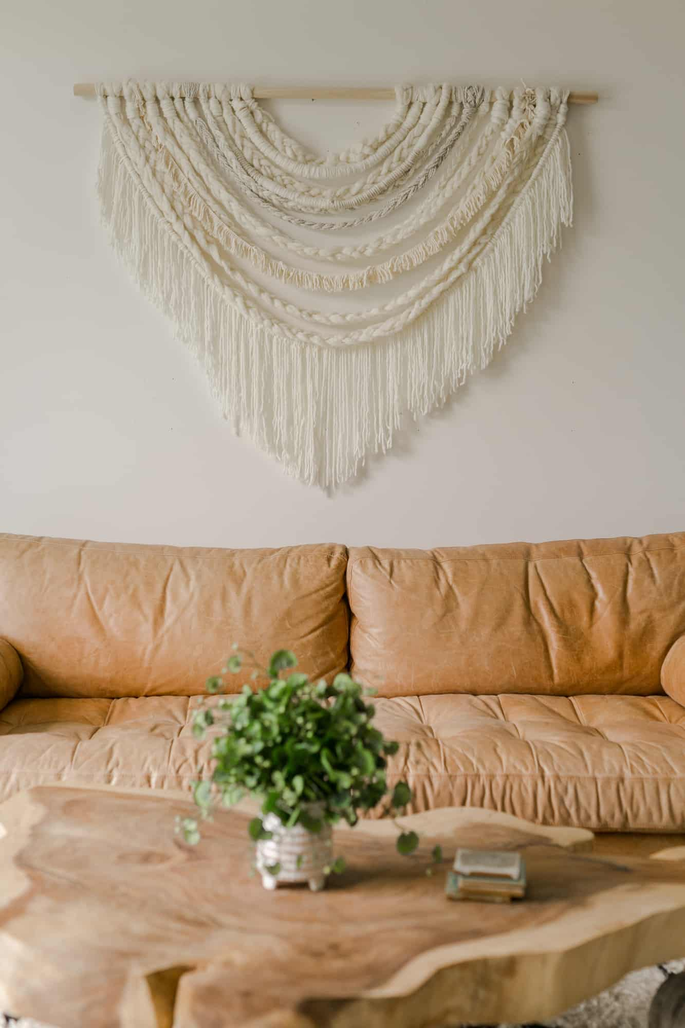 Large Scale Braided Wall Hanging Diy – A Beautiful Mess With Most Recent Blended Fabric Wall Hangings With Rod Included (View 17 of 20)
