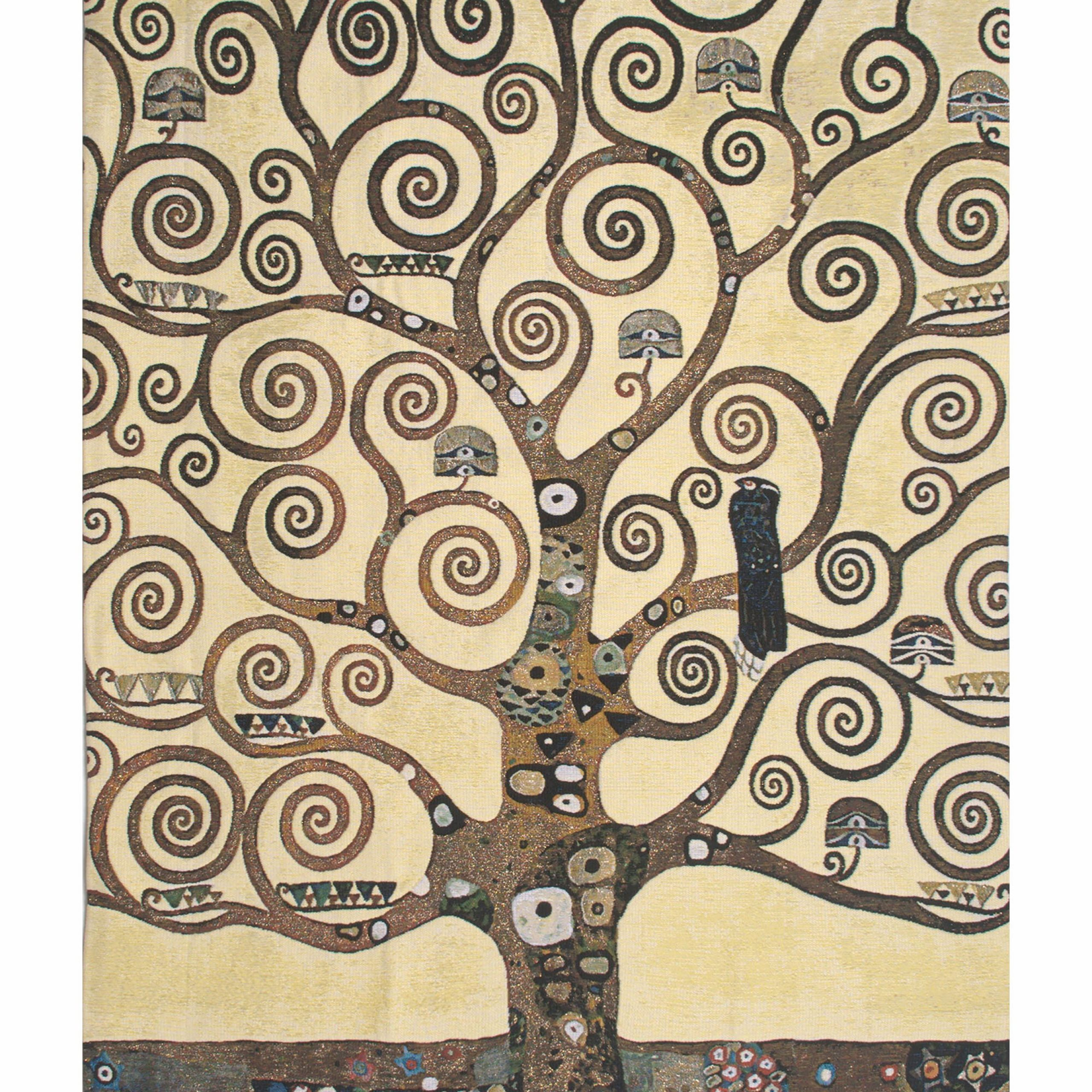 Lebensbaum Klimt Tree Of Life Belgian Wall Tapestry With Regard To 2018 Blended Fabric Klimt Tree Of Life Wall Hangings (View 3 of 20)