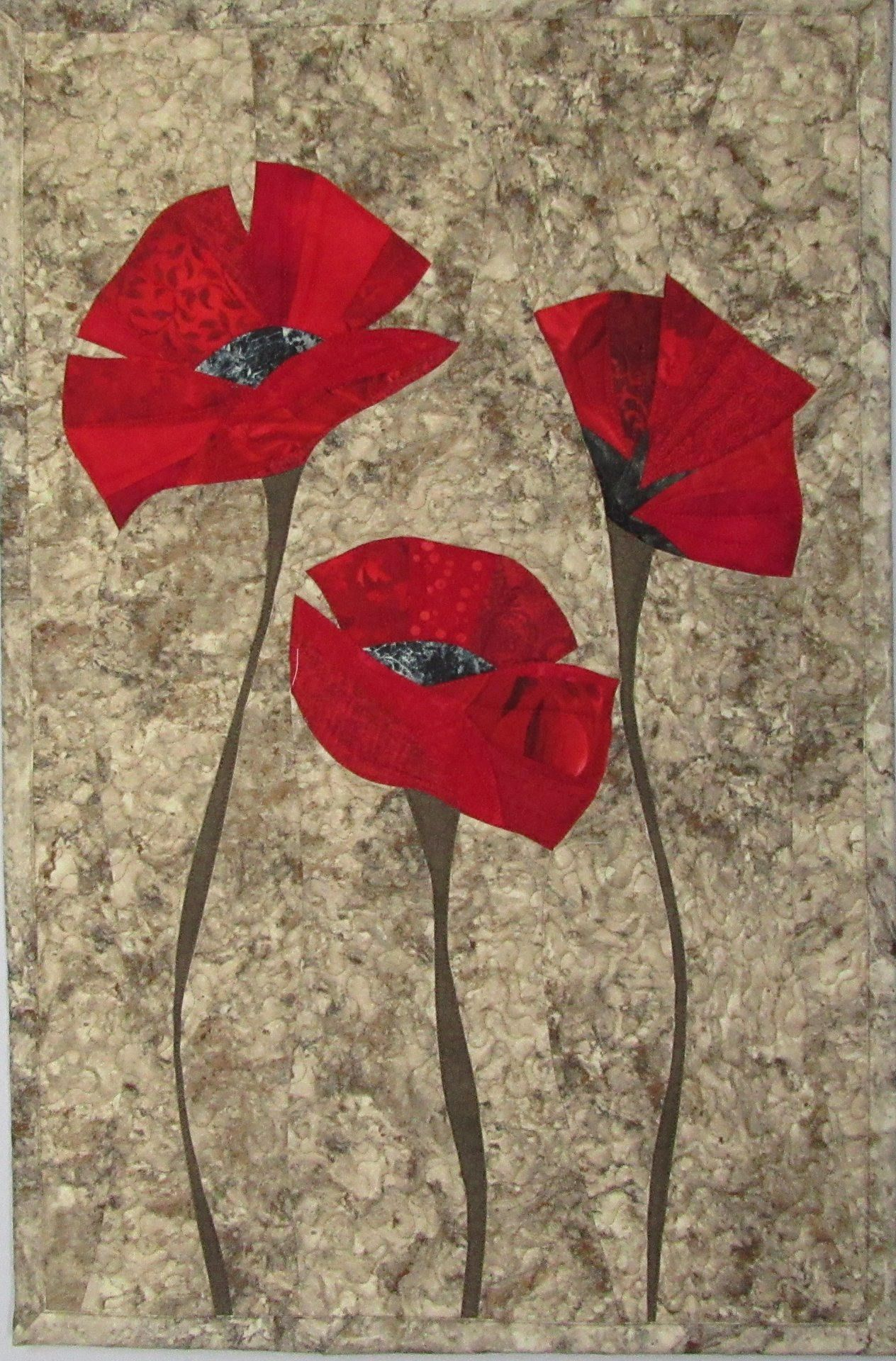 L'endroit Où Acheter Et Vendre Tout Le Fait Main | Art With 2017 Blended Fabric Poppy Red Wall Hangings (View 2 of 20)