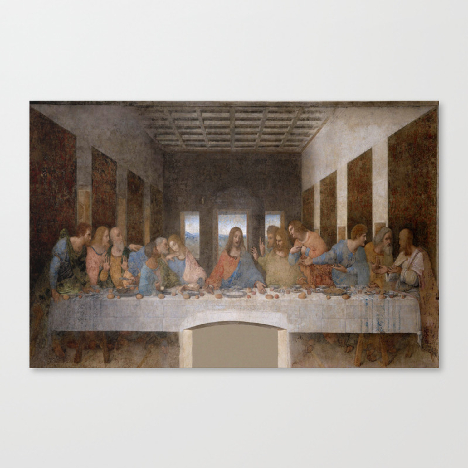 Leonardo Da Vinci – Ultima Cena – The Last Supper Canvas Printoldking Intended For Most Popular Blended Fabric Leonardo Davinci The Last Supper Wall Hangings (View 14 of 20)