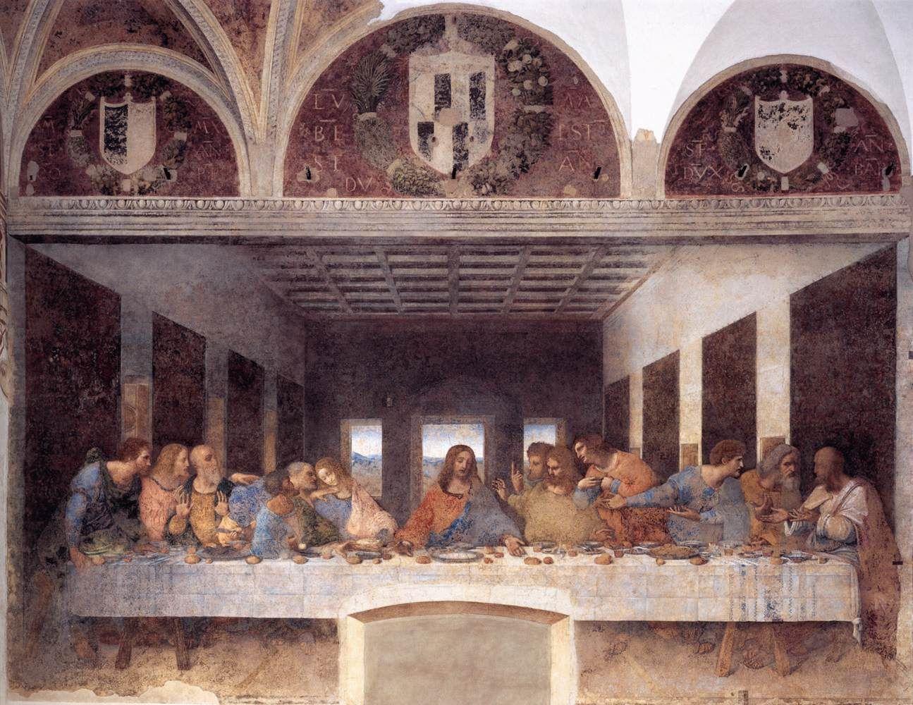 Leonardo Da Vinci's The Last Supper Conceals A Secret, But In Recent Blended Fabric Leonardo Davinci The Last Supper Wall Hangings (View 1 of 20)