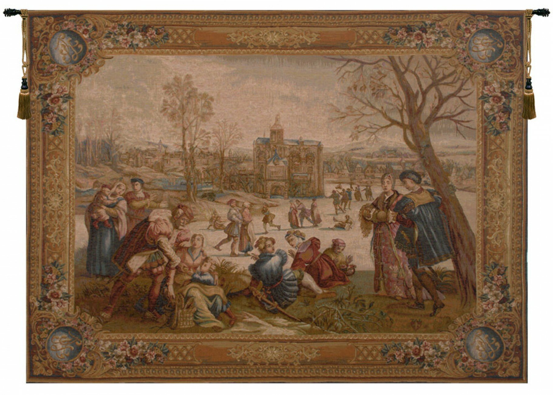 Les Patineurs I European Tapestry For Most Up To Date Grandes Armoiries I European Tapestries (View 6 of 20)