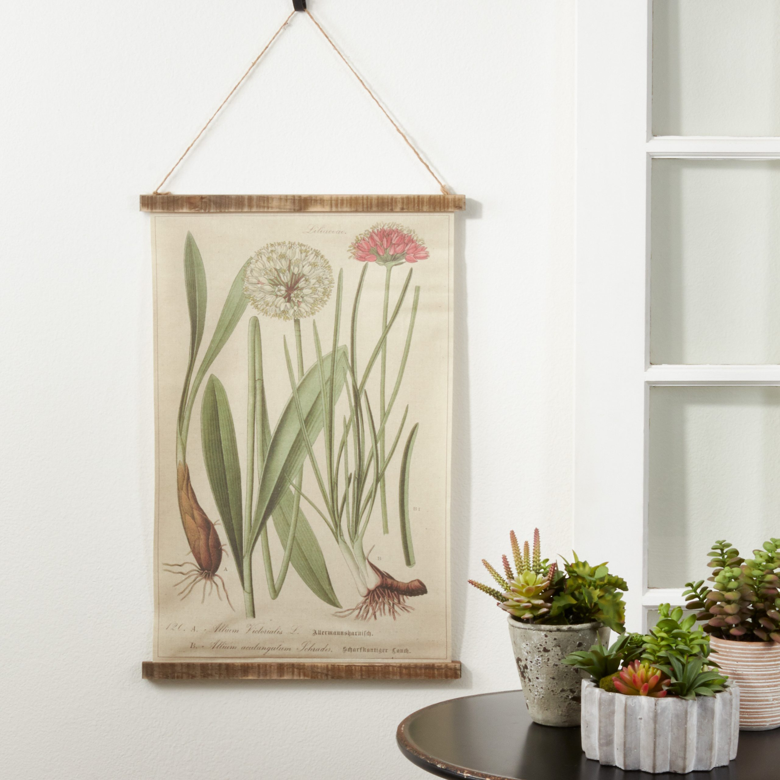 Linen Botanical Design With Rod Included With Regard To Most Recent Blended Fabric Clancy Wool And Cotton Wall Hangings With Hanging Accessories Included (View 17 of 20)