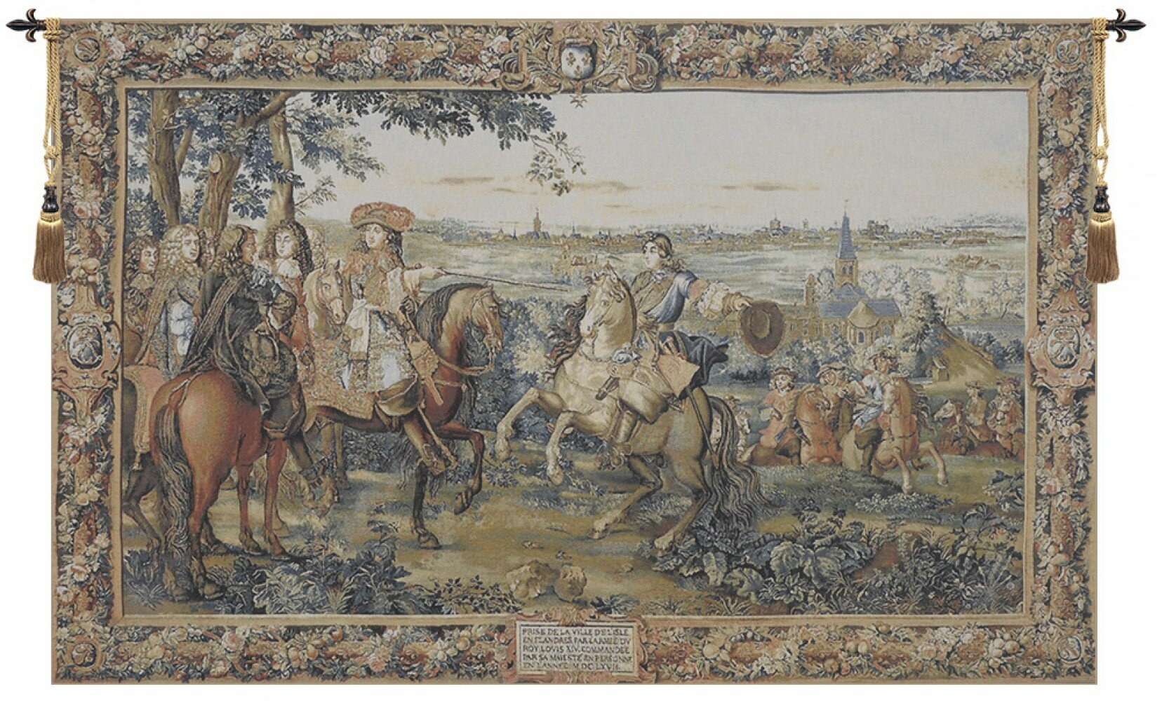 Louis Xivcharles Le Brun Tapestry Inside Most Up To Date Blended Fabric Chateau Bellevue European Tapestries (View 5 of 20)
