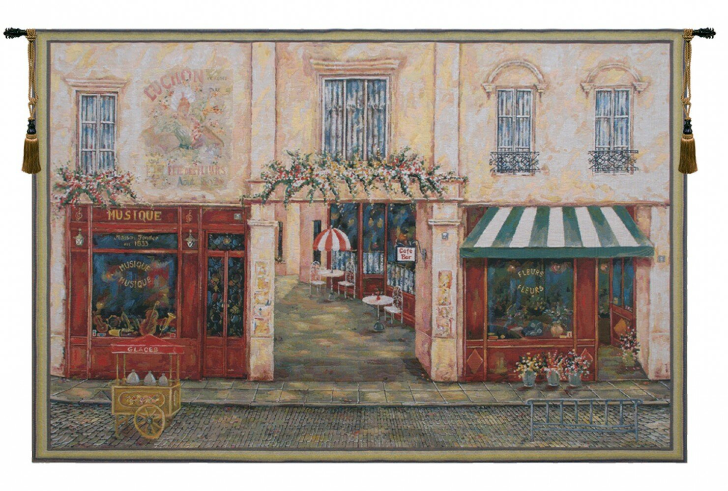 Luchon Terrasse Tapestry Pertaining To Most Current Blended Fabric Morning Reflections By Robert Pejman Flanders Tapestries (View 3 of 8)