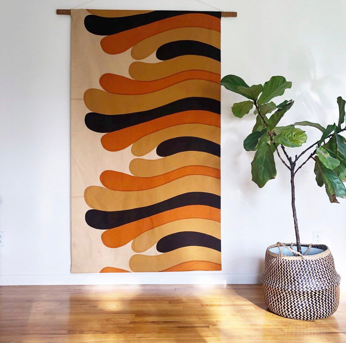 Maija Isola Marimekko Fabric Wall Hanging 60s 70s Home Decor Throughout Current Blended Fabric Salty But Sweet Wall Hangings (View 6 of 20)