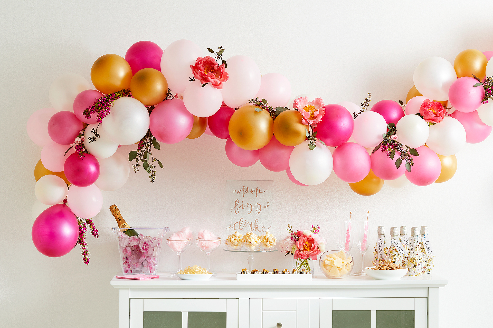 Make A Diy Balloon Garland In Under An Hour | Better Homes For 2018 Blended Fabric Spring Party Wall Hangings (View 12 of 20)
