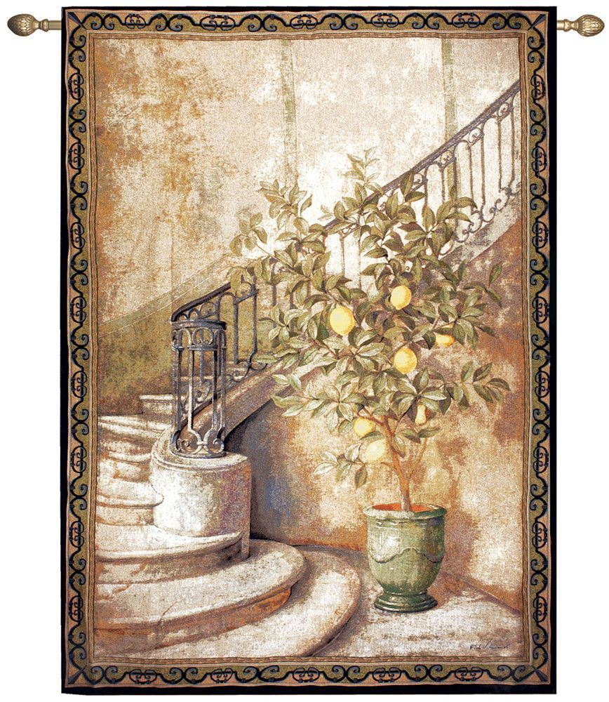 Manual Woodworkers & Weavers Lemon Stairwell Tapestry For Most Recently Released Blended Fabric Living Life Tapestries (View 14 of 20)