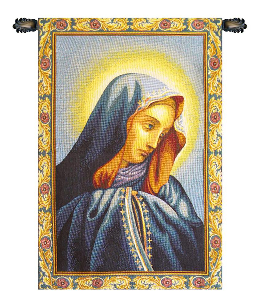"""""""mater Dolorosa Italian Wall Hanging A – H 24 X W 17 Wall Tapestry"""" – Walmart Throughout 2017 Blended Fabric Italian Wall Hangings (View 3 of 20)"""