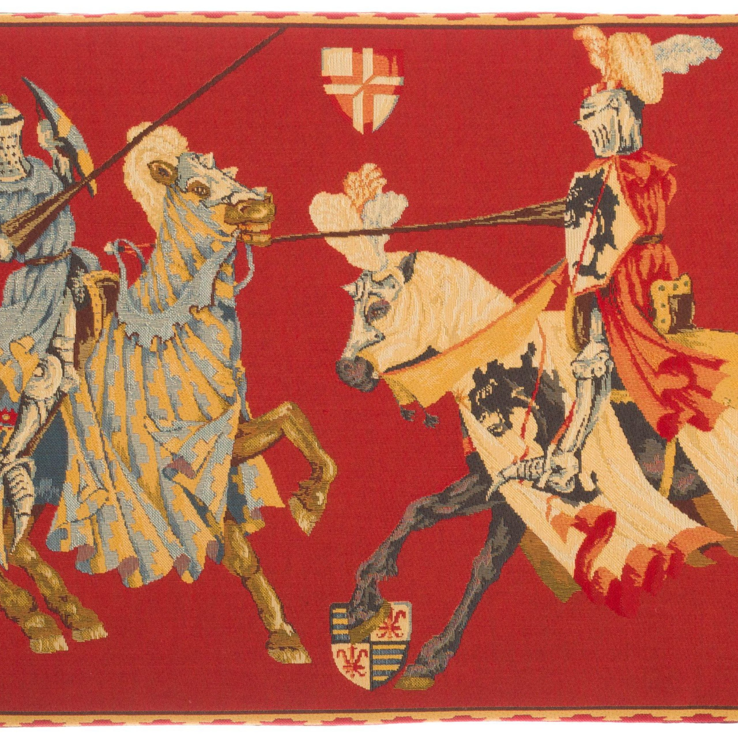 Medival Lists Jousting Tournament Tapestry Wallhanging In Most Up To Date Blended Fabric European Five English Horses Tapestries (View 11 of 20)
