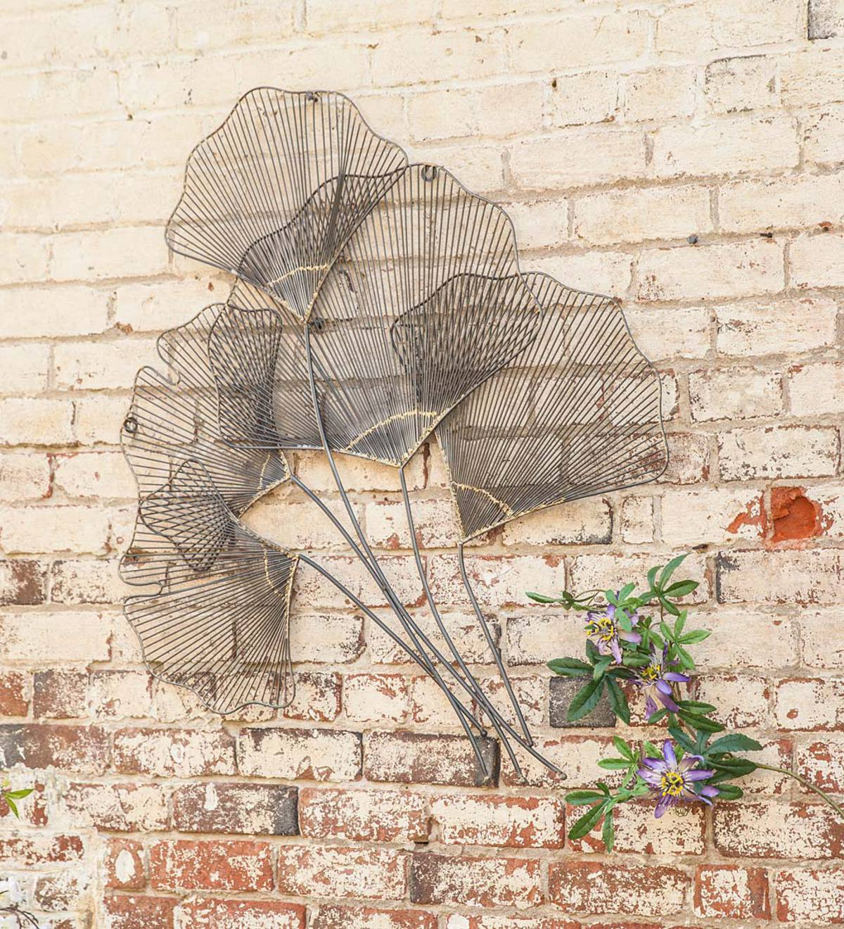 Metal Gingko Leaf Wall Art   Wind And Weather Regarding Most Current Blended Fabric Leaf Wall Hangings (View 13 of 20)