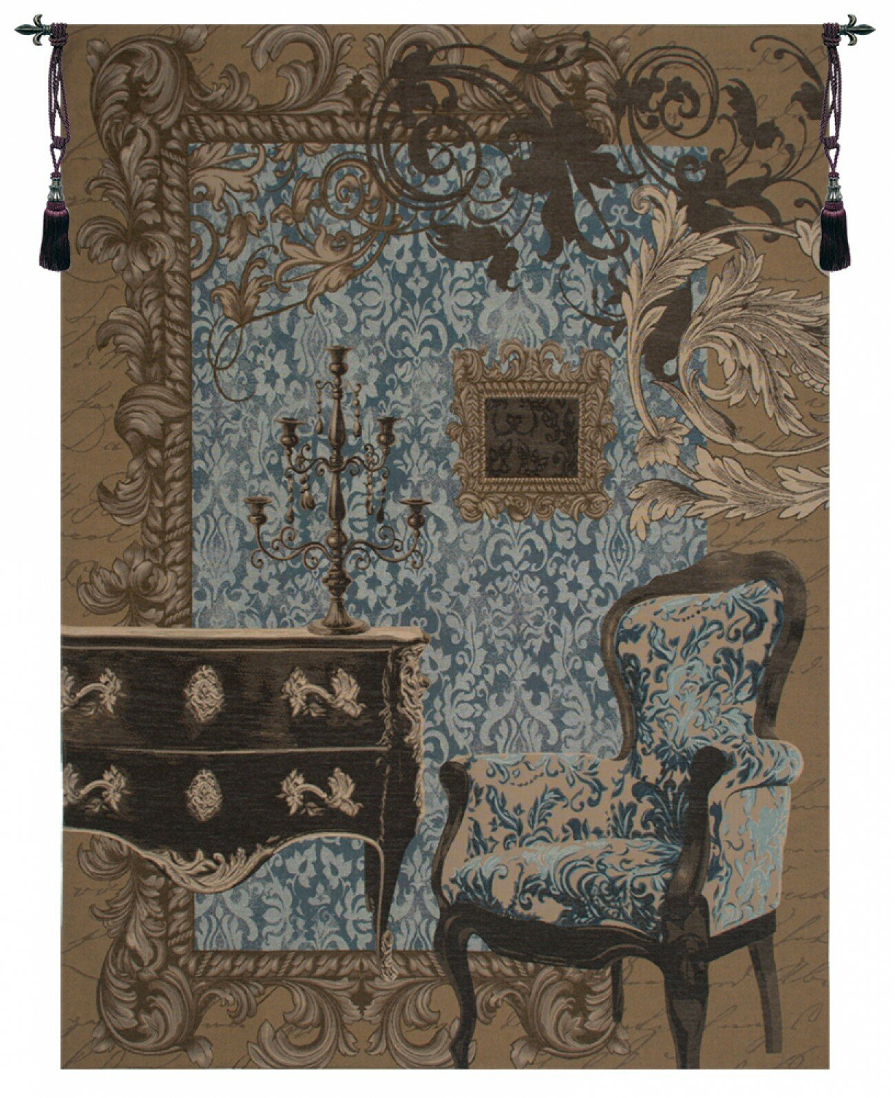 Mobilier Louis Xvi European Tapestry Inside Most Up To Date Blended Fabric Chateau Bellevue European Tapestries (View 6 of 20)
