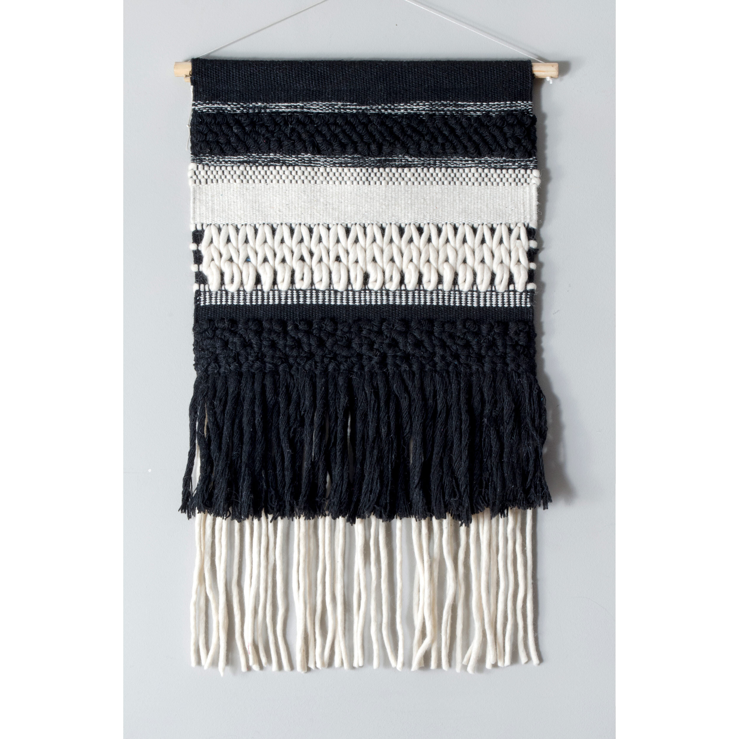 Modern Gray Wall Hangings | Allmodern Throughout Latest Blended Fabric Teresina Wool And Viscose Wall Hangings With Hanging Accessories Included (View 13 of 20)