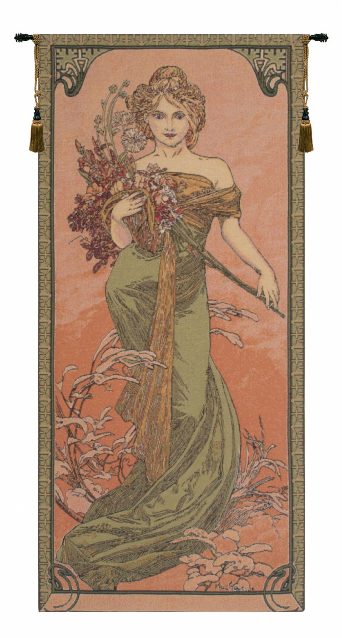 Mucha Spring European Wall Hanging Pertaining To Latest Blended Fabric The Pomona Wall Hangings (View 4 of 20)