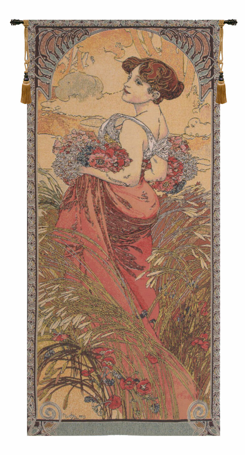Mucha Summer I European Wall Hanging In Recent Blended Fabric The Pomona Wall Hangings (View 9 of 20)