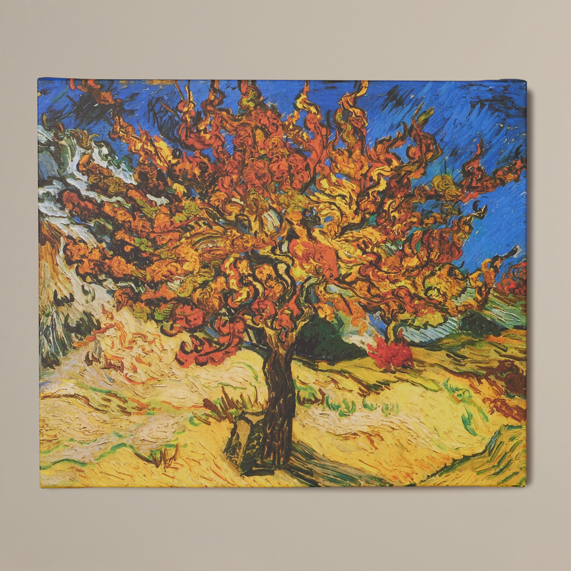 'mulberry Tree'vincent Van Gogh Painting Print On Canvas Throughout Recent Blended Fabric The Mulberry Tree – Van Gogh Wall Hangings (View 3 of 20)