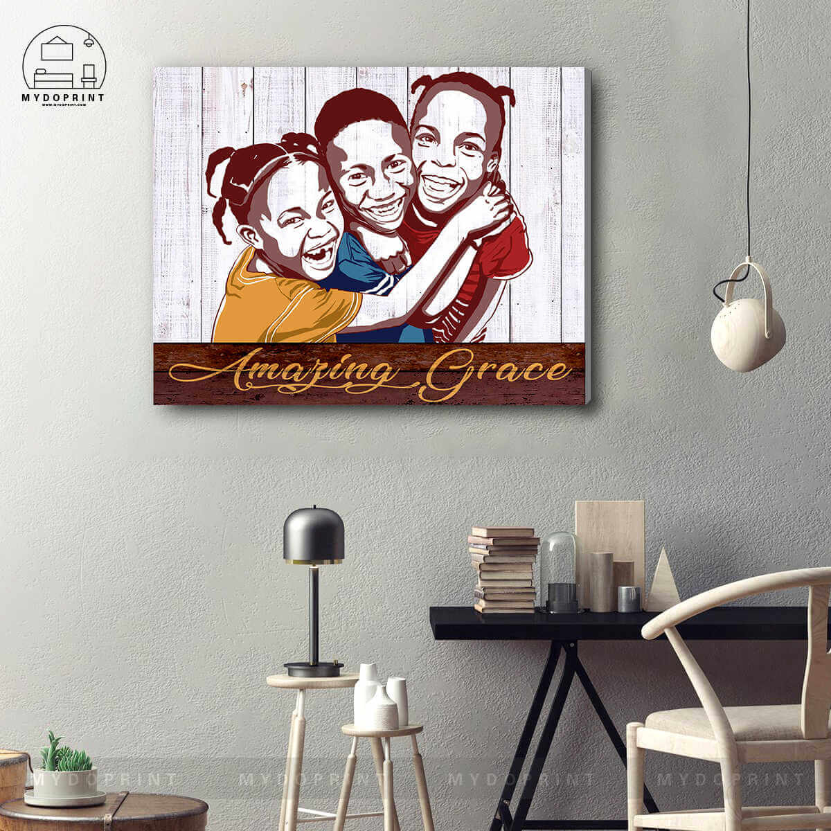 Mydoprint Amazing Grace Wall Art Canvas – Mydoprint Throughout Best And Newest Blended Fabric Amazing Grace Wall Hangings (View 2 of 20)