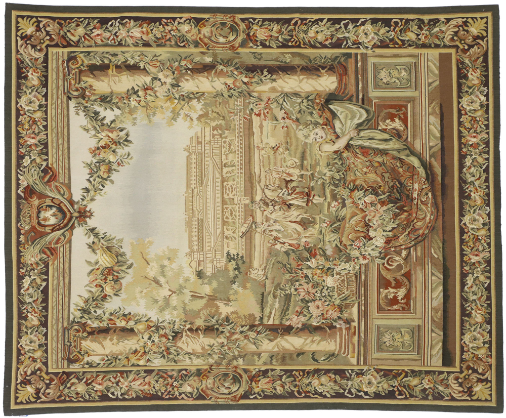 New Gobelins Inspired Tapestry 6 X 7 In 2020   Tapestry Pertaining To 2018 Blended Fabric Classic French Rococo Woven Tapestries (View 3 of 20)